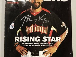 Signed Matt Kemp Los Angeles Dodgers Rising Star Magazine