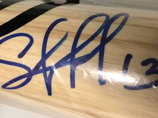 Signed Salvador Perez Kansas City Royals Full Sized Baseball Bat James Spence Authentication WITNESSED