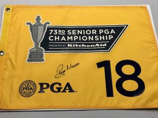 2012 73rd Senior PGA Championship Hole #18 Flag Signed By Roger Maltbie