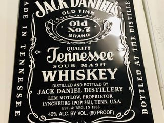 2007 Jack Daniels Whiskey Tin Advertising Sign 36 inches by 18 Inches