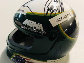 Mini Race Helmet Signed by Five NASCAR Superstars   Ryan Newman  Greg Biffle  Mark Martin  Carl Edwards  Kyle Busch