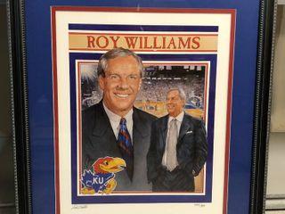 Framed   Matted Roy Williams Print   Ted Watts Signed Print Kansas Jayhawks  499 900