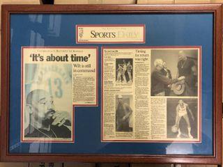 Kansas City Star Sports Daily Framed Wilt Chamberlain Kansas Jayhawks Newspaper  It s About Time
