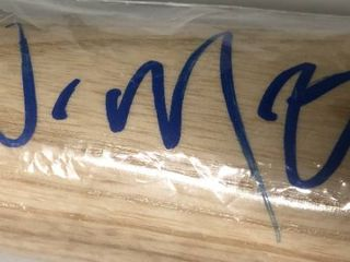 Signed Whit Merrifield Full Sized Baseball Bat with James Spence Authentication WITNESS w/Bold Blue Ink Autograph