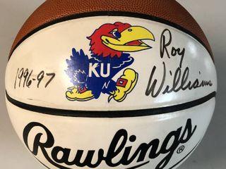 Kansas Jayhawks Roy Williams 1996 97 Signed Basketball With James Spence Certificate of Authenticity   Jayhawks logo Ball