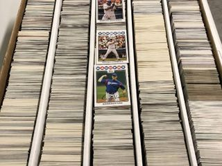 large 5 000 Count Five Row Box Full of Baseball Cards from mid to late 2000 s