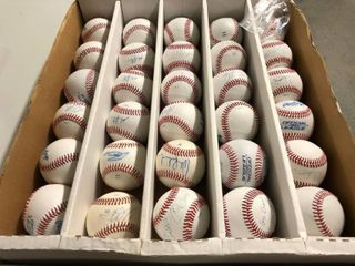 Huge lot of 30 Signed Baseballs Mostly By Minor leaguers   High Draft Picks