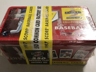 Factory Sealed 1997 Score Baseball Trading Card Set   New In Tin Box