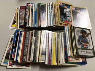 Collection of Several Hundred Wade Boggs Baseball Trading Cards