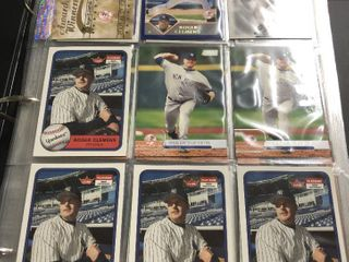Huge Binder Full of Roger Clemens Baseball Cards   Over 500 Baseball Cards   Red Sox  Astros  Blue Jays  Yankees