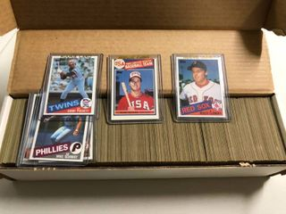 Complete 1985 Topps Baseball Trading Card Set  1 792 Total Cards   Roger Clemens  Mark McGwire  and Kirby Puckett rookies