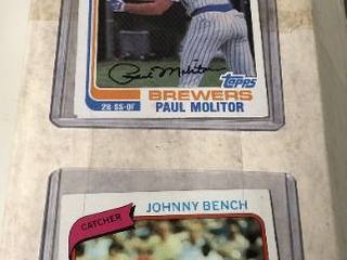 800 Count Box of 1980 s Baseball Cards with Hall of Famers