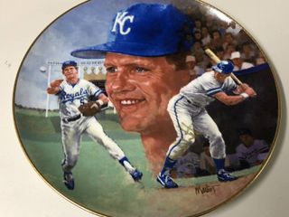 1986 Gartland Company George Brett Official Collector's Plate Signed By Brett