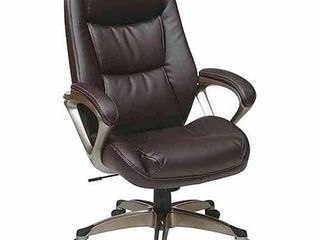Executive leather Office Chair with Headrest  Black