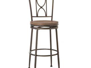 Hillsdale Furniture 5987 830 Brushed Steel   Distressed Brown   Gray Paddock 21  Wide