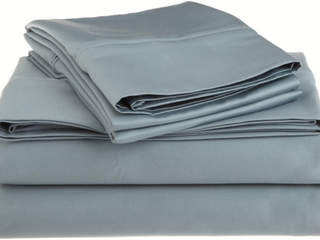 Egyptian Cotton 1200 Thread Count Oversized Full Sheet Set Solid  Teal