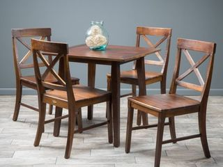 Carridge 5 piece Square Wood Dining Set by Christopher Knight Home