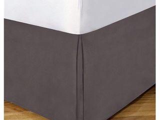 luxury Hotel Tailored Microfiber 14  Bedskirt   Grey  Queen