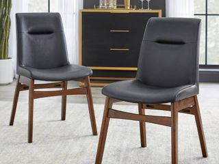 Set of 2 Vance Dining Chair Black   Buylateral