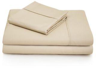 Woven 600 Thread Count Cotton Blend Pillowcase Set  Driftwood