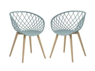 Jamesdar Kurv Cool Sage Natural Mini Chair  Set of 2