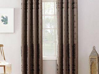 95 x50  Elidah Bonded Velvet Blackout Grommet Curtain Panel Mocha   Sun Zero