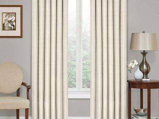 63 x42  Kendall Thermaback Blackout Curtain Panel Ivory   Eclipse