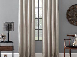 Archaeo linen Blend Blackout Grommet Top Curtain  52  W x 84  l
