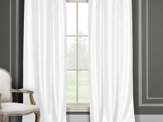 2 Pack Daenerys 38 in  W x 96 in  l Polyester Window Panel in White