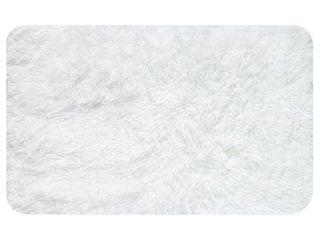 Popular Bath Super Soft St  lucia Bath Rug  White  24X40