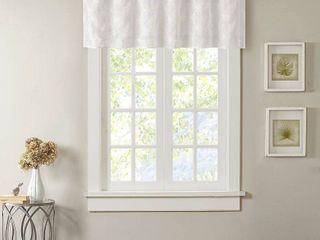 18 x50  Vera Sheer Embroidered Window Valance White