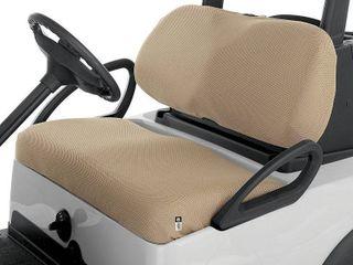 Classic Accessories Fairway Golf Cart Diamond Air Mesh Bench Seat Cover  Khaki