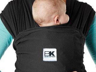 Baby K tan Breeze Baby Carrier   Black   Extra Small