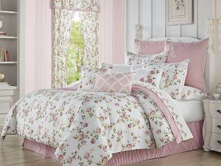 Rosemary Rose Queen 4pc  Comforter Set Bedding
