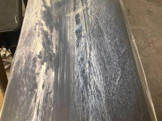 SOCHI SEA STORM IN BlUE  Modern landscaped morning