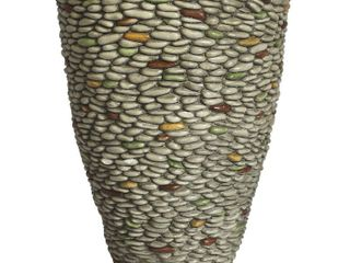 laura Ashley Pebble Rock Fiberstone Planter  16 by 16 by 21 5 Inch