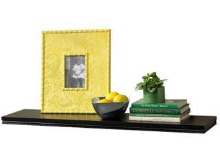 36  x 8  Modern Wall Shelf Black   InPlace
