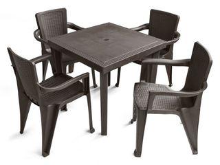 MQ INFINITY Espresso 4 Piece Patio Chairs