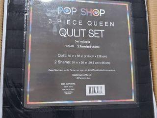 3 piece quilt set   Queen