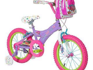 Trolls 16  Kids  Bike with Training Wheels   Purple Pink