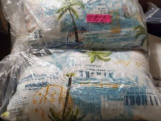 palms blue and white oblong indoor outdoor pillows