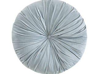 light Gray Velvet Round Floor Pillow Cushion  24 x24