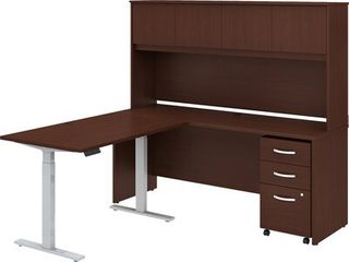 Studio C 72W Adjustable l Desk with Storage by Bush Business Furniture