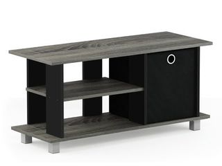 Furinno Simplistic TV Entertainment Center with Bin  Multiple Colors