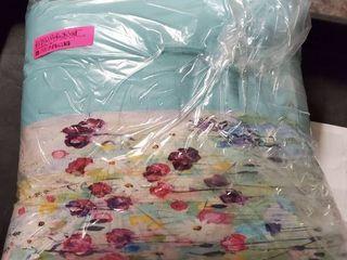 kavka designs purple green blue floral pillow