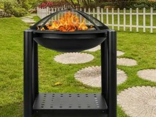 22  Outdoor Iron Brazier Wood Burning Fire Pit  Retail 91 99