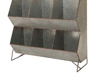 Glitzhome 24 l Farmhouse Galvanized Storage Shelf  Retail 82 99