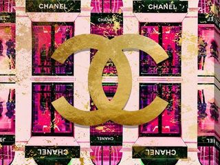 BY Jodi  Shop Chanel in Pink  Giclee Print Canvas Wall Art  Retail 205 99