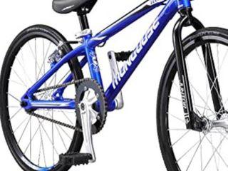 Mongoose Title Junior BMX Race Bike  20 Inch Wheels  Beginner to Intermediate Riders  lightweight Aluminum Frame  Internal Cable Routing  Blue