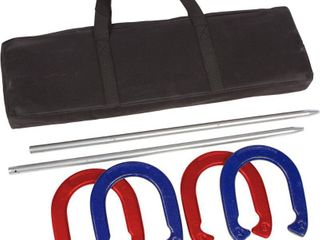 Trademark Innovations Red  Blue Pro Horseshoe Set